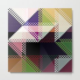 Pattern Multi Color Abstract Metal Print