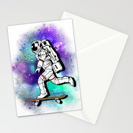 Space Skating Astronaut Skateboard Skater tee t-shirt Stationery Cards