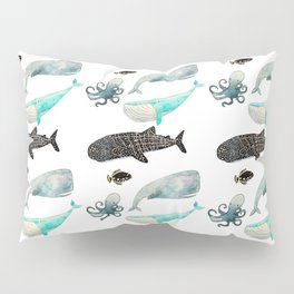 Whales and friends Pillow Sham