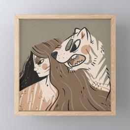 Fierce Pals Framed Mini Art Print