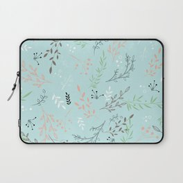 Light And Lovely Spring Floral Garden Pattern Laptop Sleeve