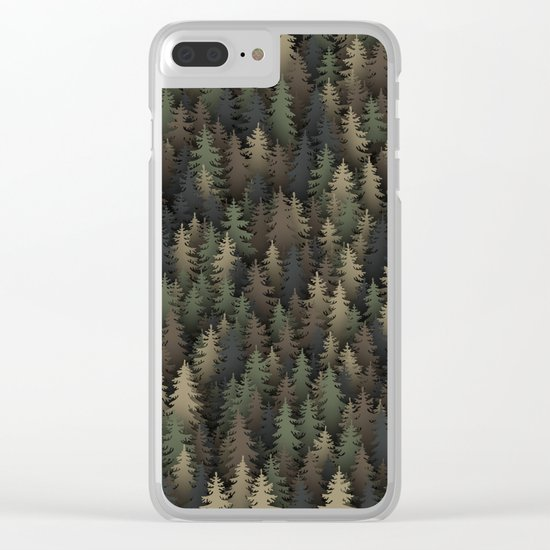 Forest camouflage Clear iPhone Case