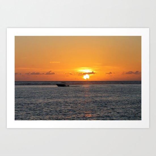 Cayman Sunrise Art Print