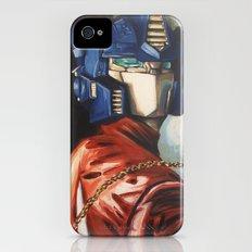 Optimus Prime With Sunflower iPhone (4, 4s) Slim Case