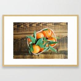 A Basket of Oranges Framed Art Print