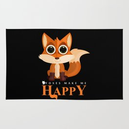 Foxes Make Me Happy Rug