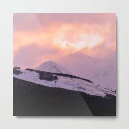 Rose Quartz Turbulence - III Metal Print