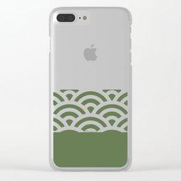Rainbow Trim Forest Dark Green Clear iPhone Case