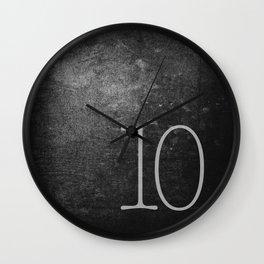 NUMBER 10 BLACK Wall Clock