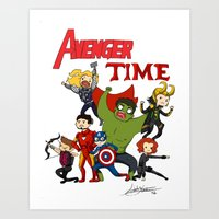 avenger Art Prints featuring Avenger Time! by ArtisticCole