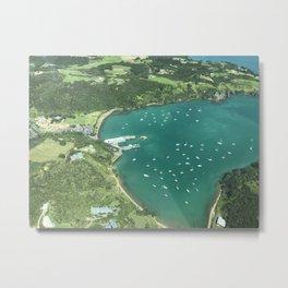 Matiatia, Waiheke Island - Aerial View Metal Print