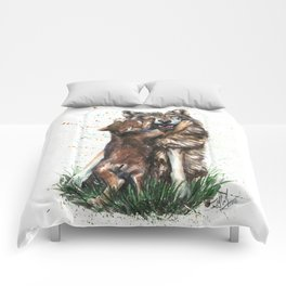 Wolf - Father and Son Comforters