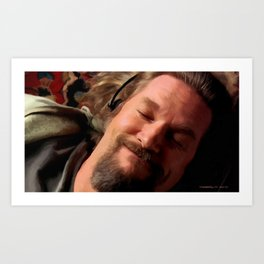 Jeff Bridges as The Dude Art Print