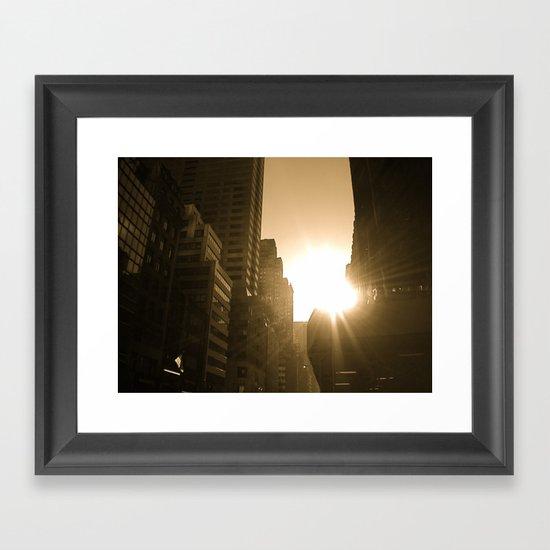 Sundown on Fifth Ave. Framed Art Print