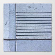 Concrete Stripe Blue Canvas Print