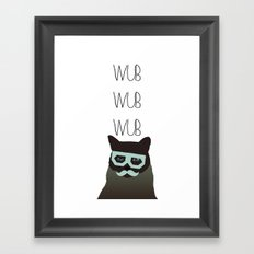 dubstep cat Framed Art Print