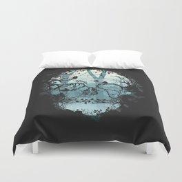 Dark Forest Skull Duvet Cover