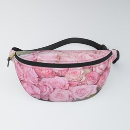 Paris Shabby Chic Pink Pastel Roses French Market Fanny Pack