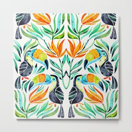 Tropical Toucans Metal Print
