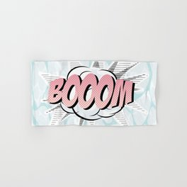 Water comics pastel boom Hand & Bath Towel