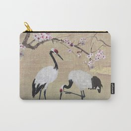 Cranes Under Cherry Tree Carry-All Pouch