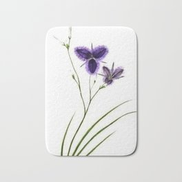Vintage Wildflower Purple Bath Mat
