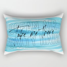 Ocean Air Take Me There Salty Hair, Girls Room, Printable Art, Beach Print Rectangular Pillow