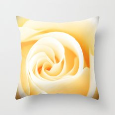 Rose´s heart II - Yellow beautiful rose flower Throw Pillow