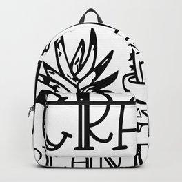 Crazy Plant Lady lustiger Gartenspruch Backpack
