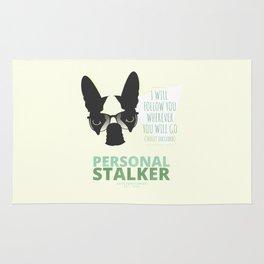 Boston Terrier: Personal Stalker. Rug