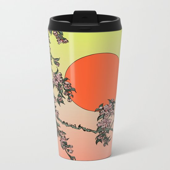 Pugry Blossom Metal Travel Mug