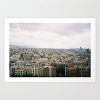 barcelona Art Prints featuring Barcelona by lisk