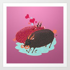 Love Beasts Art Print