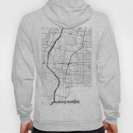 Albuquerque Map Gray Hoody