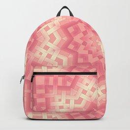 pink basket weavу #binding #ribbon #pink #peach #beige Backpack