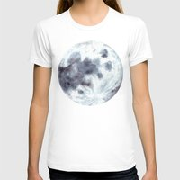 the moon T-shirts featuring Moon by Bridget Davidson