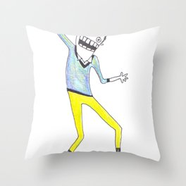 King Yellowpants Throw Pillow