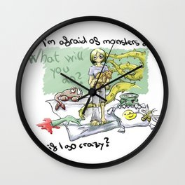 Afraid of monsters Wall Clock