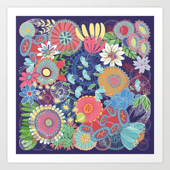 Flower Garden Art Print