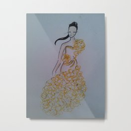 in yellow Metal Print