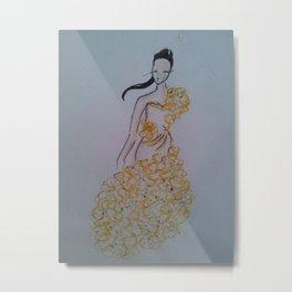 in yellow Metal Print