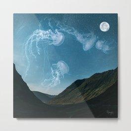 Let's swim to the moon Metal Print