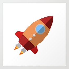 Rocket Ship Art Print