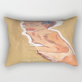 NUDE egon schiele by T'Mculus' Soul Rectangular Pillow