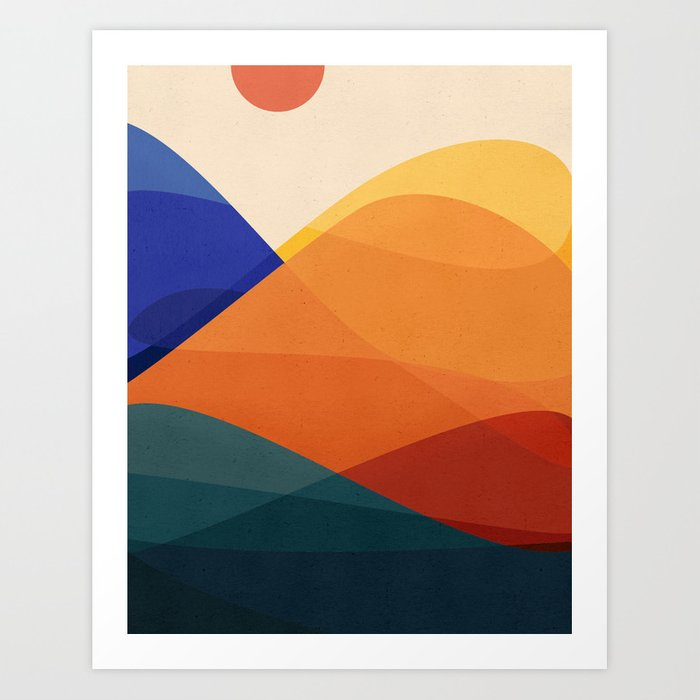Meditative Mountains Kunstdrucke