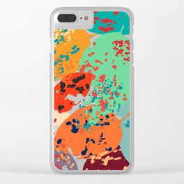 Sprinkled Leaves Clear iPhone Case