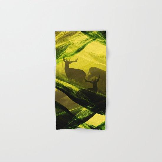 Oh Deer Complex Green Hand & Bath Towel