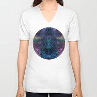 snake V-neck T-shirts featuring snake by Marta Olga Klara