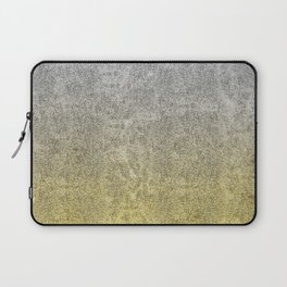 Silver and Gold Glitter Gradient Laptop Sleeve