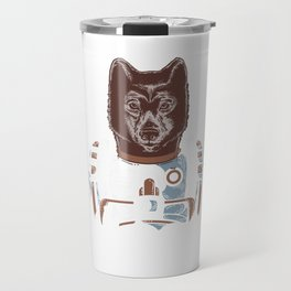 Awesome Wolf Astronaut Outer Space Nerdy Rocket Science Travel Mug